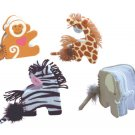 Plush Animal Notebook And Pen Set Of 4