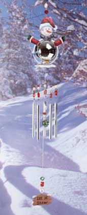 Metal Snowman Windchime