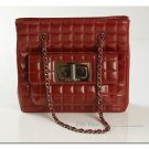 Chanel Burgundy Quilted Shoulder Handbag