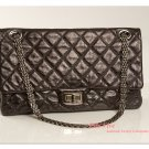 Chanel Reissue 2.55 -- 228 (Jumbo) 08 Metalic Black Handbag