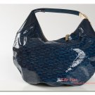 Gucci Blue Patent Leather Hobo Handbag in Classic Horsebit