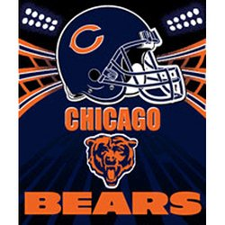Chicago Bears Fleece NFL Blanket by Northwest  MSRP $20.00
