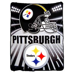 Pittsburgh Steelers Fleece NFL Blanket by Northwest  MSRP $20.00