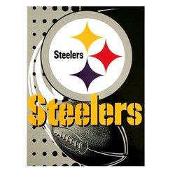 Pittsburgh Steelers Royal Plush Raschel NFL Blanket by Northwest  MSRP $50.00