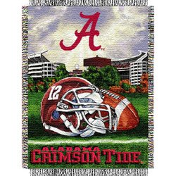 Alabama Crimson Tide Woven Tapestry NCAA Throw by Northwest  MSRP $40.00