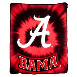 Alabama Crimson Tide Royal Plush Raschel NCAA Blanket by Northwest   MSRP $50.00