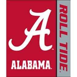 Alabama Crimson Tide Royal Plush Raschel NCAA Blanket by Northwest   MSRP $40.00