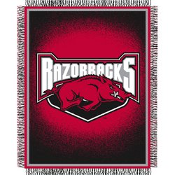 Arkansas Razorbacks Triple Woven Jacquard NCAA Throw by Northwest  MSRP $40.00