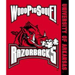 Arkansas Razorbacks Royal Plush Raschel NCAA Blanket by Northwest   MSRP $40.00