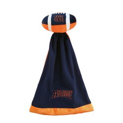 Auburn Tigers Plush NCAA Football w/Attached Security Blanket by Coed Sportswear  MSRP $20.00