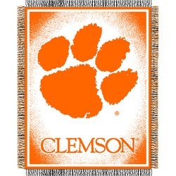 Clemson Tigers Triple Woven Jacquard NCAA Throw by Northwest   MSRP $40.00