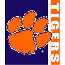 Clemson Tigers Royal Plush Raschel NCAA Blanket by Northwest   MSRP $40.00