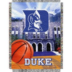 Duke Blue Devils Woven Tapestry NCAA Throw by Northwest  MSRP $40.00