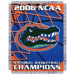 Florida Gators NCAA Basketball Champions Acrylic Triple Woven Jacquard Throw  MSRP $45.00