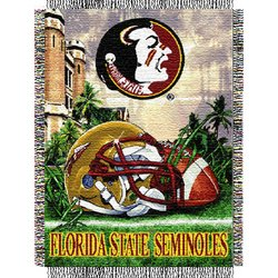 Florida State Seminoles Woven Tapestry NCAA Throw by Northwest   MSRP $40.00