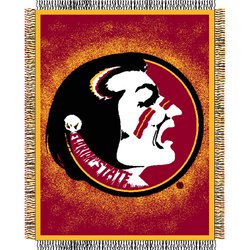 Florida State Seminoles Triple Woven Jacquard NCAA Throw by Northwest  MSRP $40.00