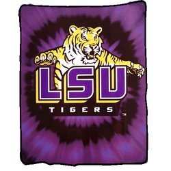Louisiana State Tigers (LSU) Royal Plush Raschel NCAA Blanket by Northwest  MSRP $50.00