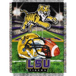 Louisiana State Tigers (LSU) Woven Tapestry NCAA Throw by Northwest   MSRP $40.00