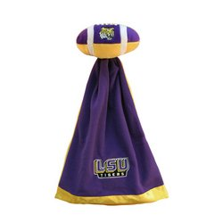 Louisiana State (LSU) Plush NCAA Football w/Attached Security Blanket   MSRP $20.00