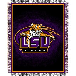 Louisiana State Fightin Tigers Triple Woven Jacquard NCAA Throw by Northwest   MSRP $40.00