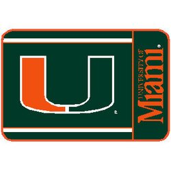 Miami Hurricanes NCAA Welcome Mat by Wincraft   MSRP $20.00