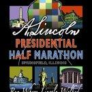 """11""""x14"""" Lincoln Presidential Half Marathon Print (w/ Lincoln Profile)"""