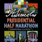 """16""""x20"""" Lincoln Presidential Half Marathon Print (w/ Lincoln Profile)"""