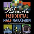 """22""""x28"""" Lincoln Presidential Half Marathon Print (w/ Lincoln Profile)"""