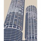 "11""x14"" - Marina City in Chicago"