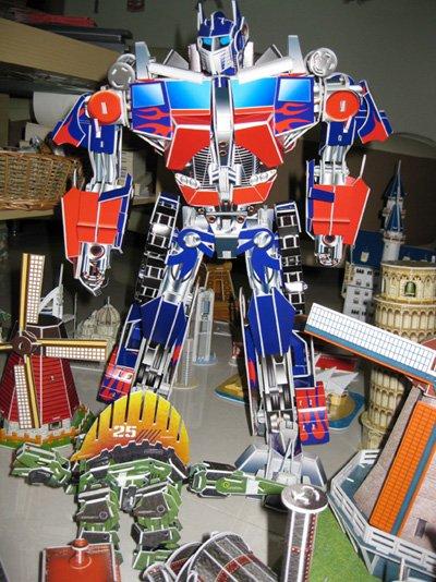 "3D puzzle,Transformers,Optimus Prime,288pcs,18"" height"