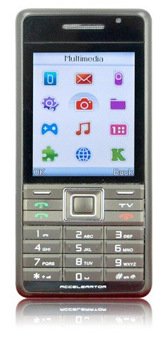 "K300 - 2.2"" TFT Screen, Dual SIM, TV Front & Back 1.3 MP Camera Mobile Phone"