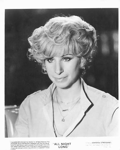 ALL NIGHT LONG Barbra Streisand 8x10 movie still photo