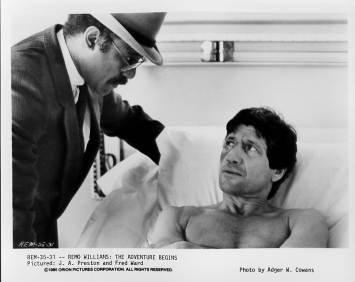 REMO WILLIAMS THE ADVENTURE BEGINS J.A. Preston, Fred Ward 8x10 movie still photo