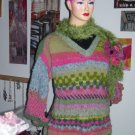 Pattern for this Designer, pastel fairisle jersey from Ragnificient