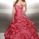Sweetheart Dimensional Flowers Taffeta Ball Gown Luxury Prom Dress Sexy Evening/Formal Dress