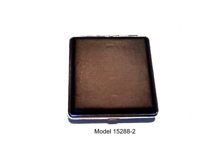 Classy Black Leather Case Holds 20 Kings Model 15288-2