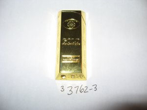 Gold Bullion Bar Shaped Butane Gas Lighter With Adjustable Flame