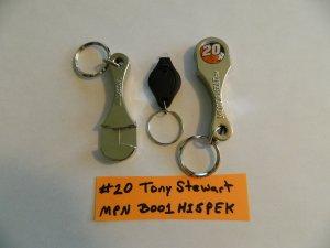 Nascar #20 Tony Stewart Connecting Rod Bottle Opener Keychain
