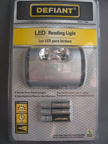 Defiant LED Reading Light Includes Batteries