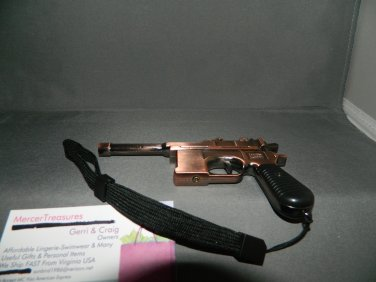 Mauser WWII C96 Gun Shaped Jet Torch Lighter With Black Wii Wrist Strap USA Stocked