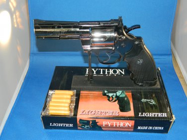 Python 357 Gun Revolver Jet Torch Lighter