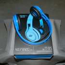 Blue Street By 50 On Ear Wired Headphones SMS Audio SM-818 No Mic