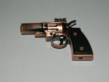 Brass Color Small Gun Pistol Shaped Jet Torch Lighter