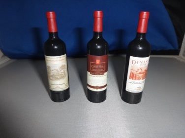 Red Wine Bottle Shaped Butane Lighter Set Of 3 USA Stocked and Shipped