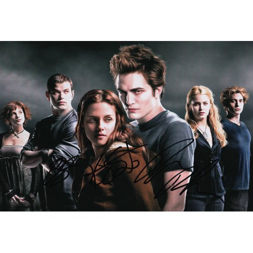 TWILIGHT CAST SIGNED 8X12 PHOTO (4) SIGNATURES + COA