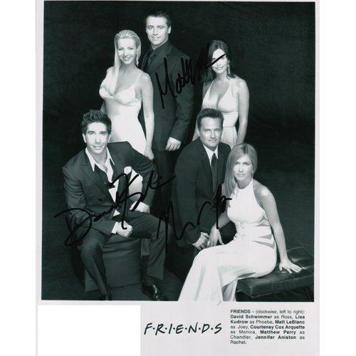 FRIENDS SIGNED 8X10 PHOTO (3) SIGNATURES COA