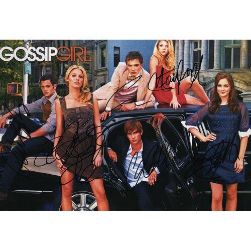 GOSSIP GIRLS CAST SIGNED 8X12 PHOTO (6) SIGNATURES COA