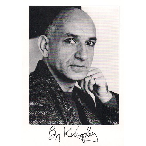BEN KINGSLEY SIGNED 4X6 PHOTO + COA