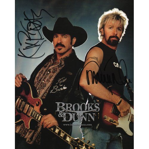 BROOKS & DUNN SIGNED 8x10 PHOTO + COA