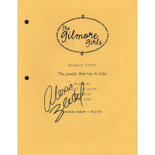 GILMORE GIRLS ALEXIS BLEDEL SIGNED SCRIPT + COA